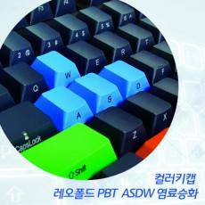 레오폴드 PBT  ASDW 염료승화 컬러키캡-영문측각(정면)