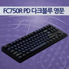 레오폴드 FC750R PD 다크블루 영문 클리어(백축)