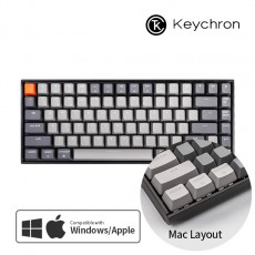 Keychron K2 화이트 LED 라이트그레이 블루투스(84키) 한글