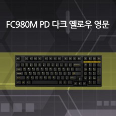FC980M PD 다크 옐로우 영문 저소음적축